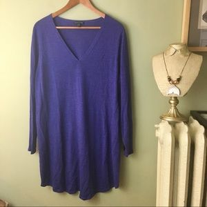 Eileen Fisher Merino Wool Long Purple Sweater